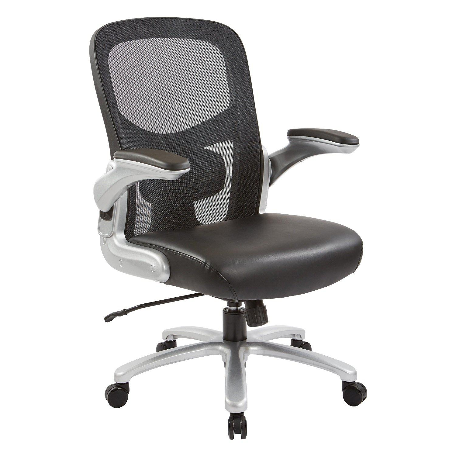 Big and Tall Deluxe Mesh Back Bonded Leather Executive Chair