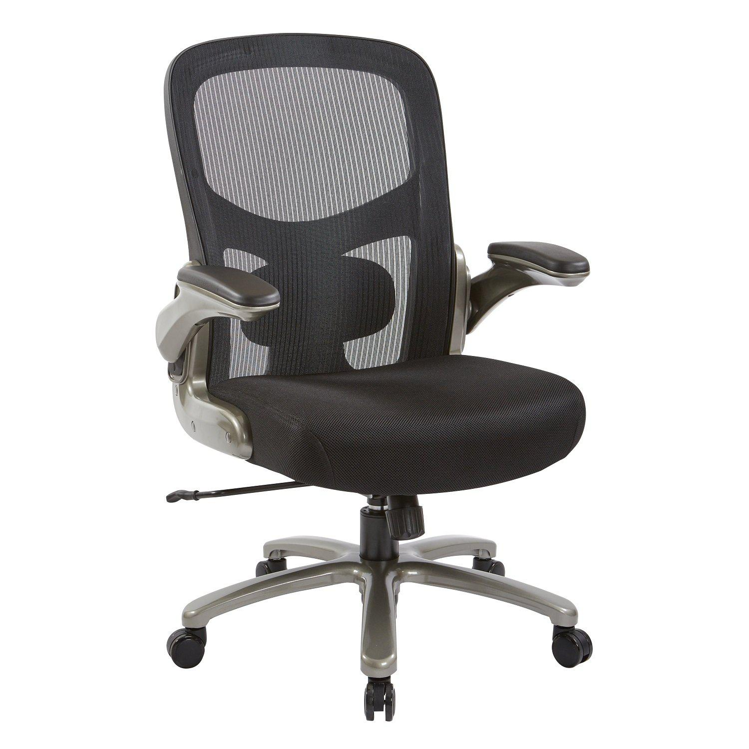 Big and Tall Mesh Back Black Mesh Seat Executive Chair