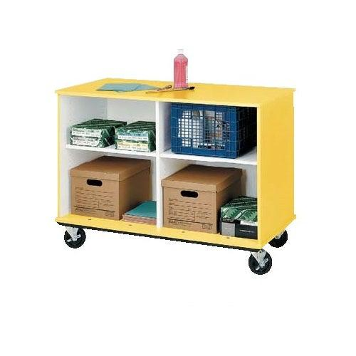 "Open Divided Mobile Storage, 36"" High"