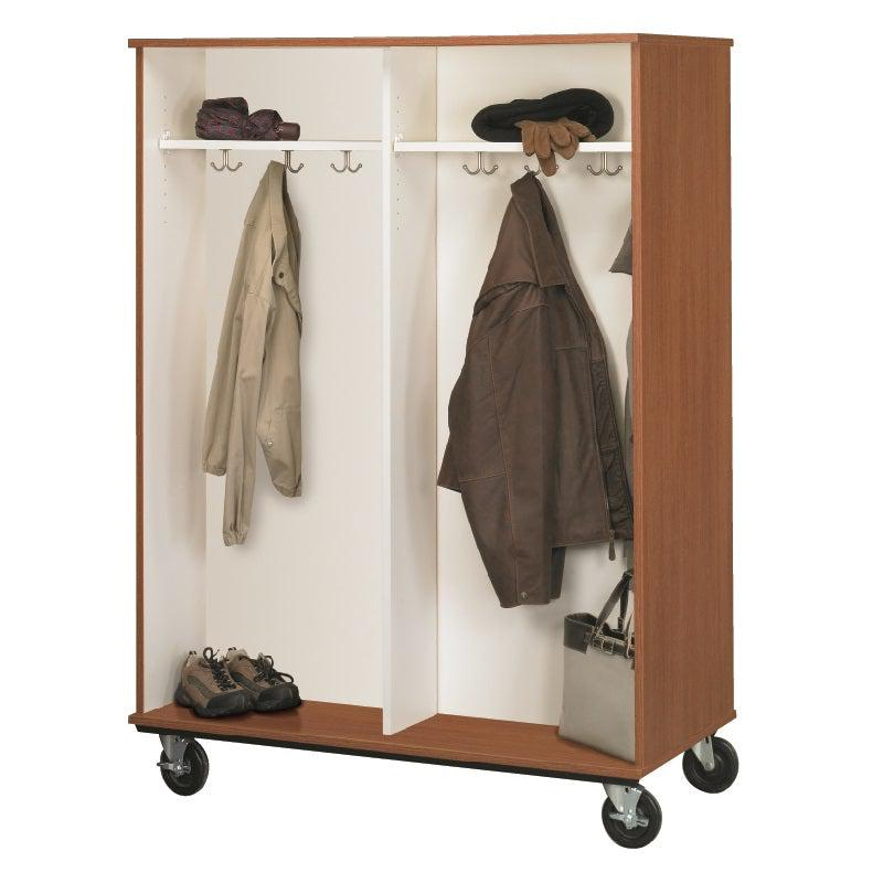 Double Sided Mobile Coat Storage