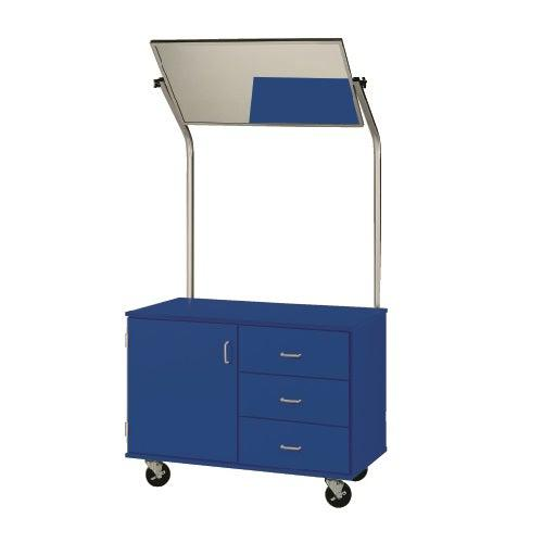 Mobile Demonstration Station With Mirror, Lockable