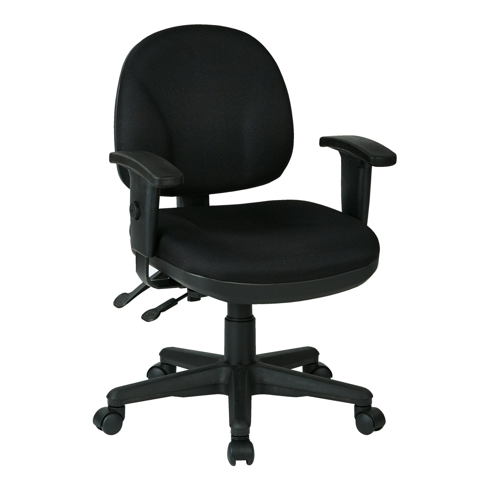 Sculptured Ergonomic Manager's Chair with Adjustable Arms