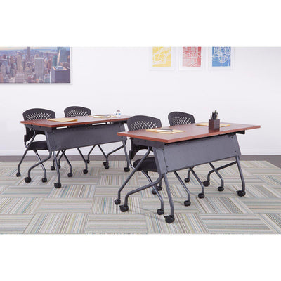 "Folding/Nesting Mobile Training Tables, Rectangular, 72"" x 24"" x 29.5"" H"