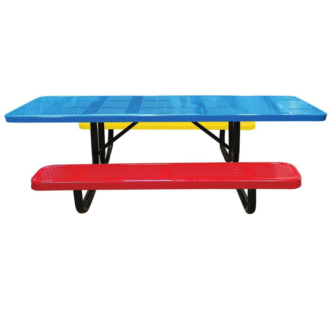 8' Children's ADA Perforated Portable Picnic Table, 6' Seats