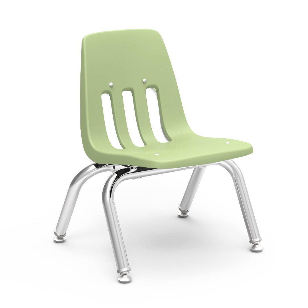 "9000 Series 4-Leg Stack Chairs-Chairs-10""-Green Apple-"