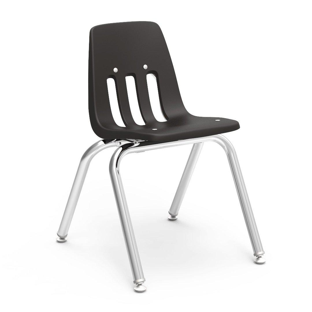"9000 Series 4-Leg Stack Chairs-Chairs-14""-Black-"