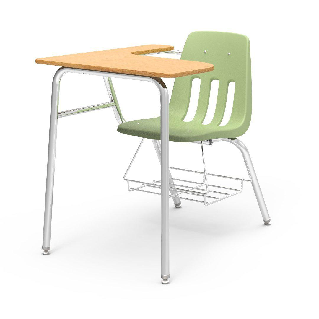 "9000 Series Combo Unit with 15"" x 24"" x 30"" Top-Desks-Green Apple-Fusion Maple-"
