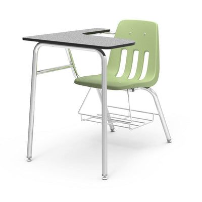 "9000 Series Combo Unit with 15"" x 24"" x 30"" Top-Desks-Green Apple-Grey Nebula-"