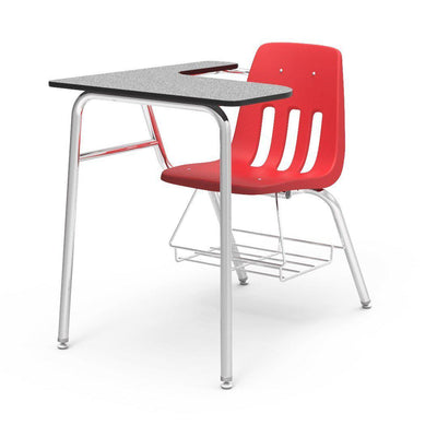 "9000 Series Combo Unit with 15"" x 24"" x 30"" Top-Desks-Red-Grey Nebula-"