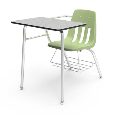 "9000 Series Combo Unit with 18"" x 24"" Top-Desks-Green Apple-Grey Nebula-"