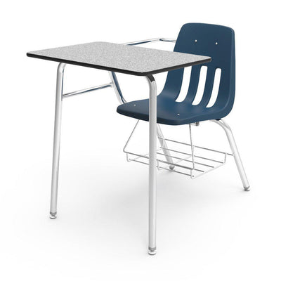 "9000 Series Combo Unit with 18"" x 24"" Top-Desks-Navy-Grey Nebula-"
