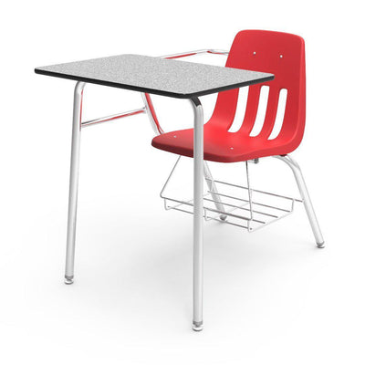 "9000 Series Combo Unit with 18"" x 24"" Top-Desks-Red-Grey Nebula-"