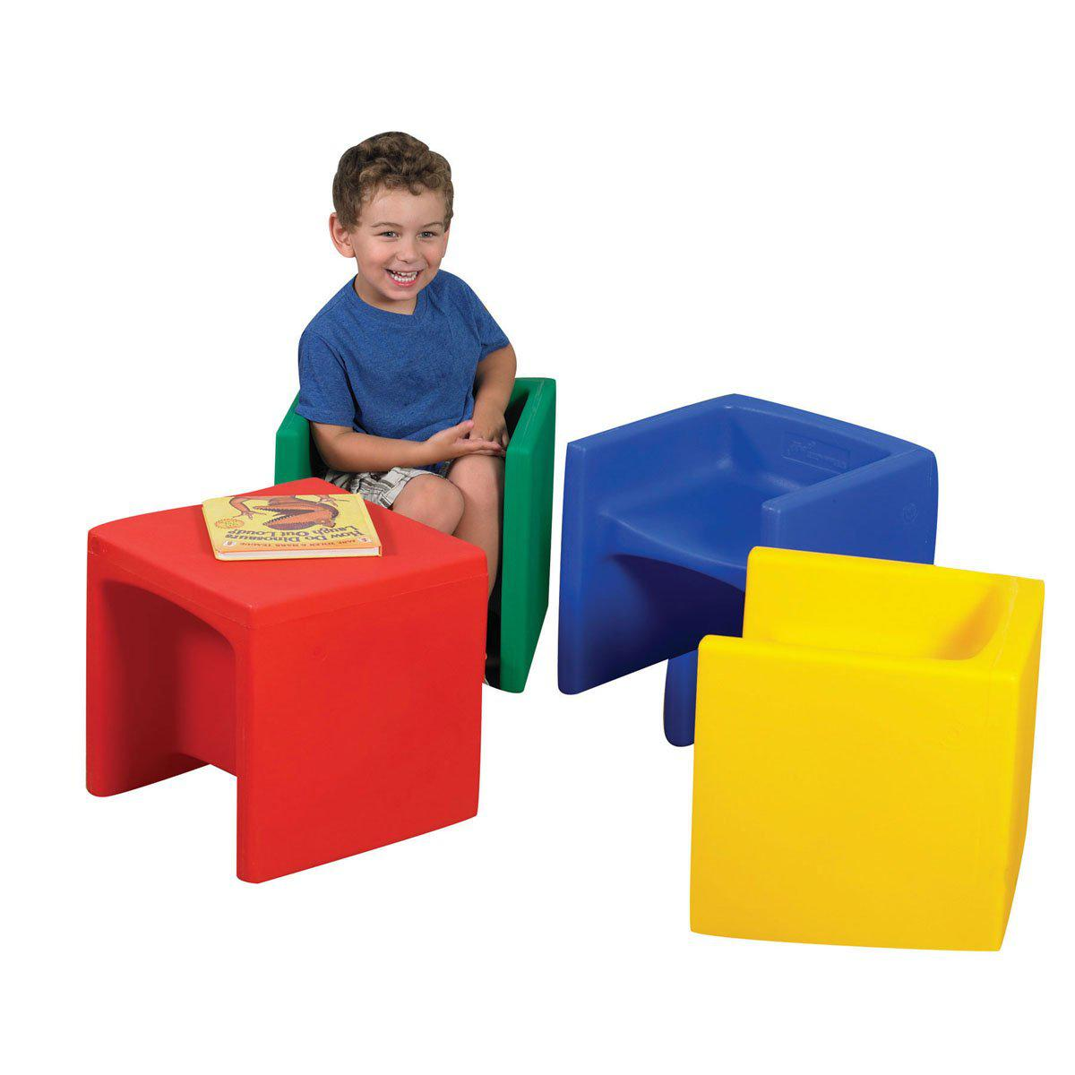 Three-in-One Cube Chairs - Set of 4