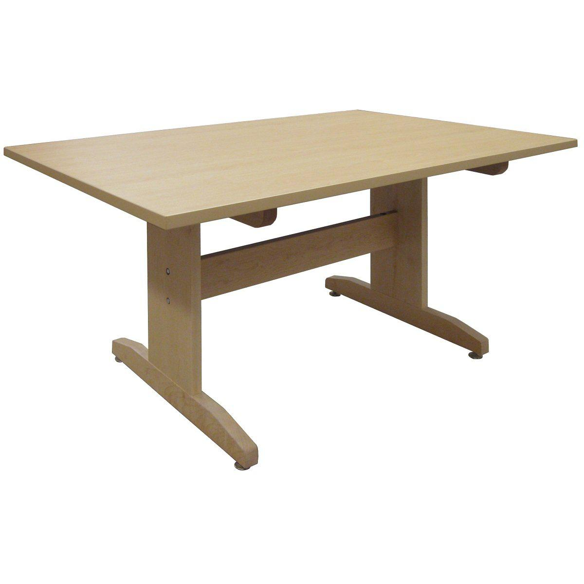 "Art Table, 42"" x 60"" Maple Grain Patterned HPL Top, 30"" High"