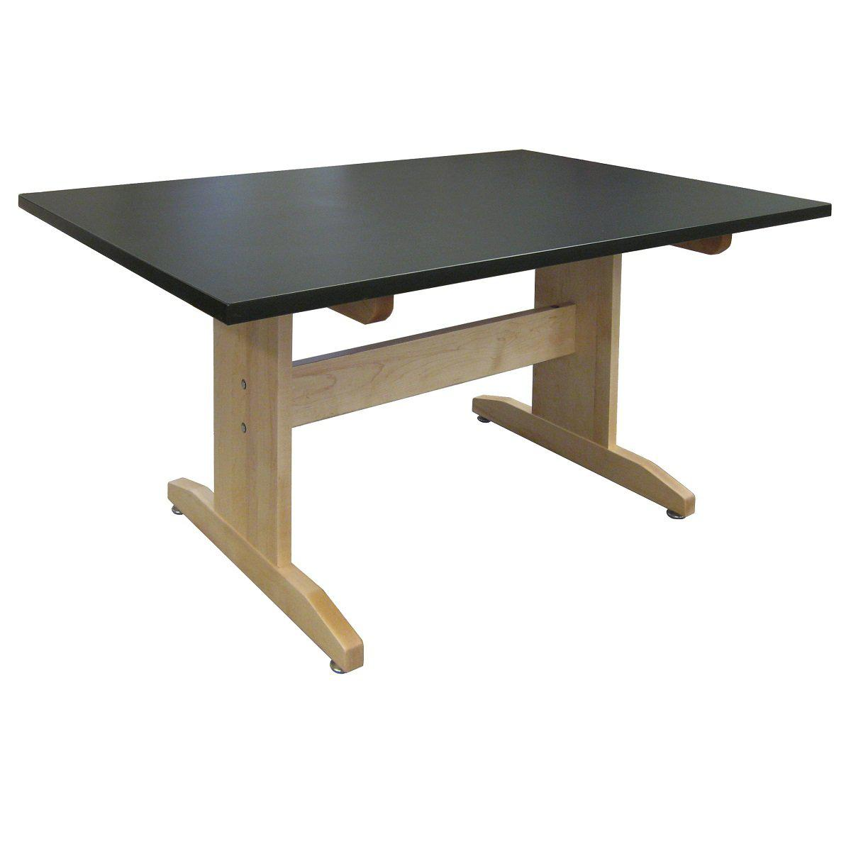 "Art Table, 42"" x 60"" Black HPL Top, 30"" High"