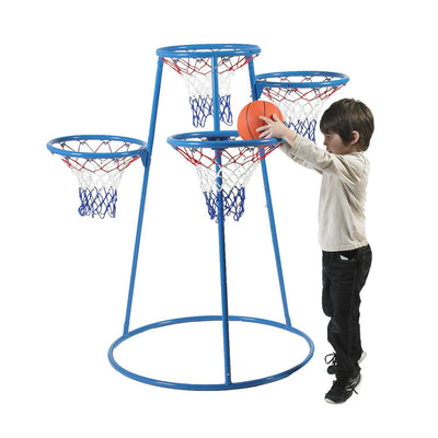 4-Ring Basketball Stand with Storage Bag