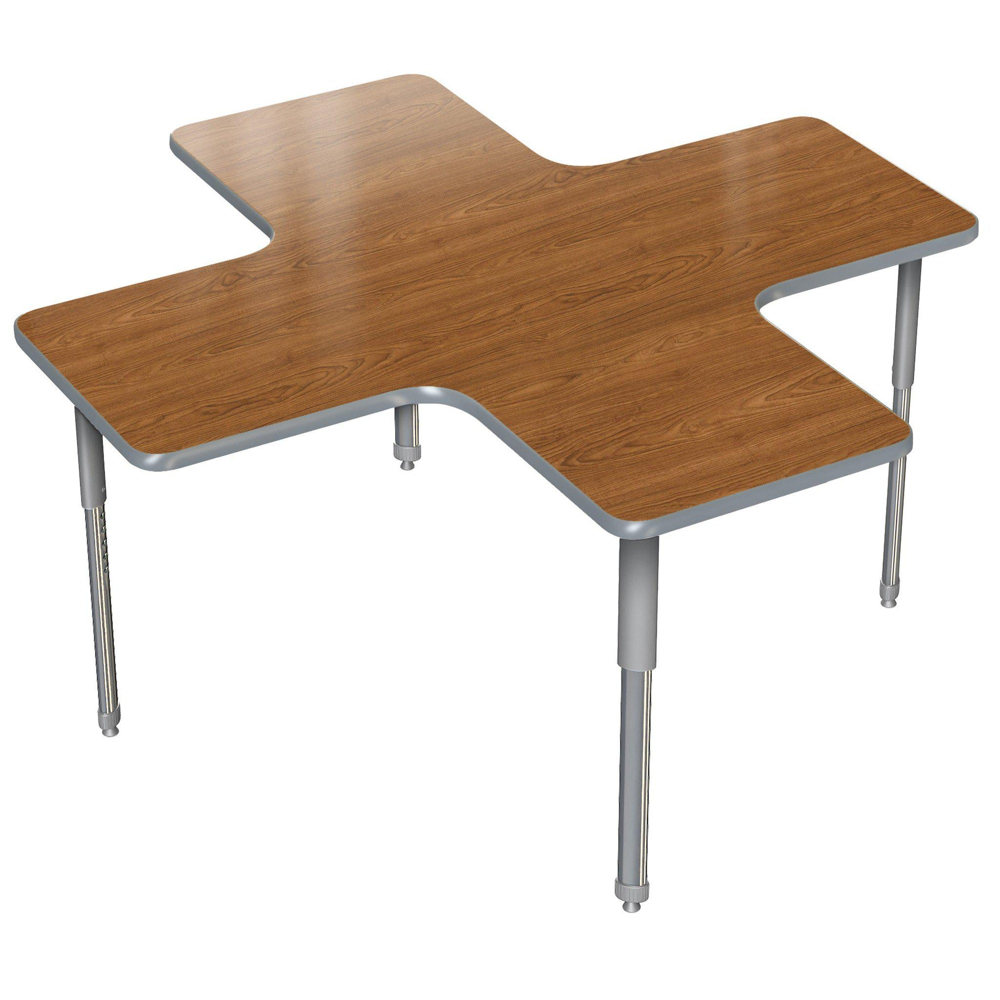 "Aero Activity Table, 60"" x 60"" A+, Oval Adjustable Height Legs"