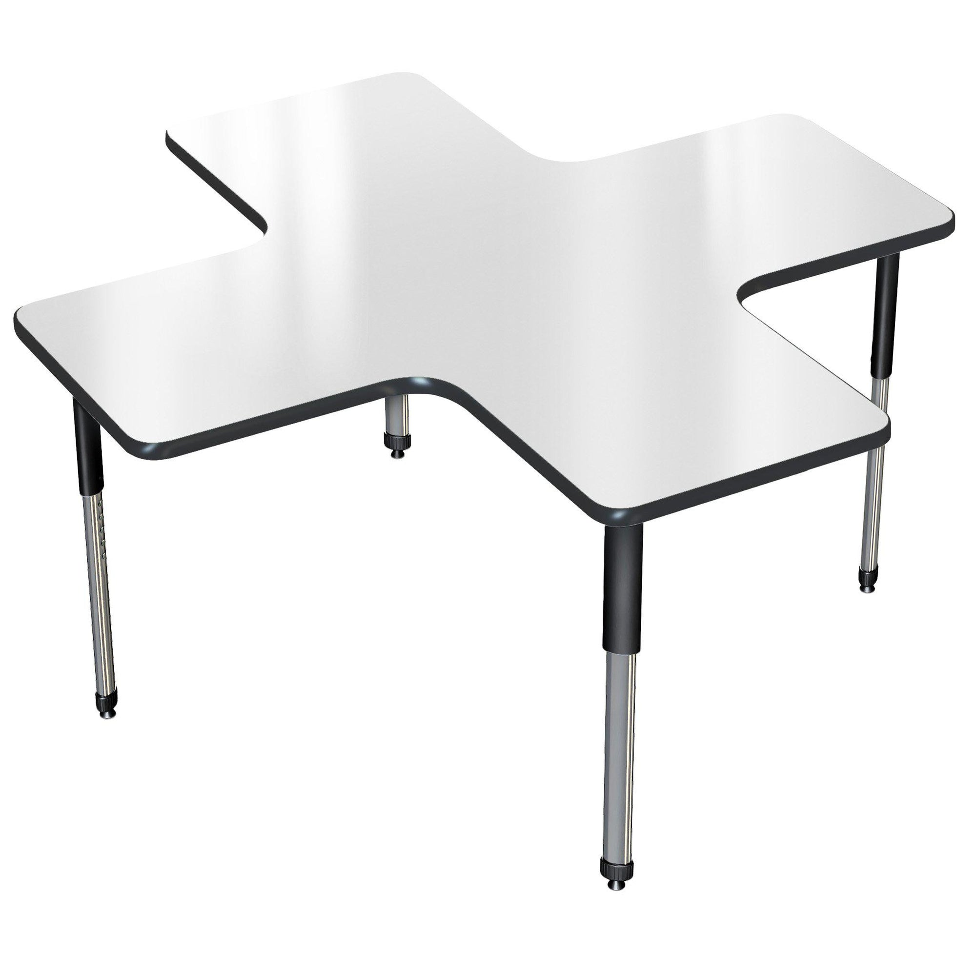 "Aero Dry Erase Activity Table, 60"" x 60"" A+, Oval Adjustable Height Legs"