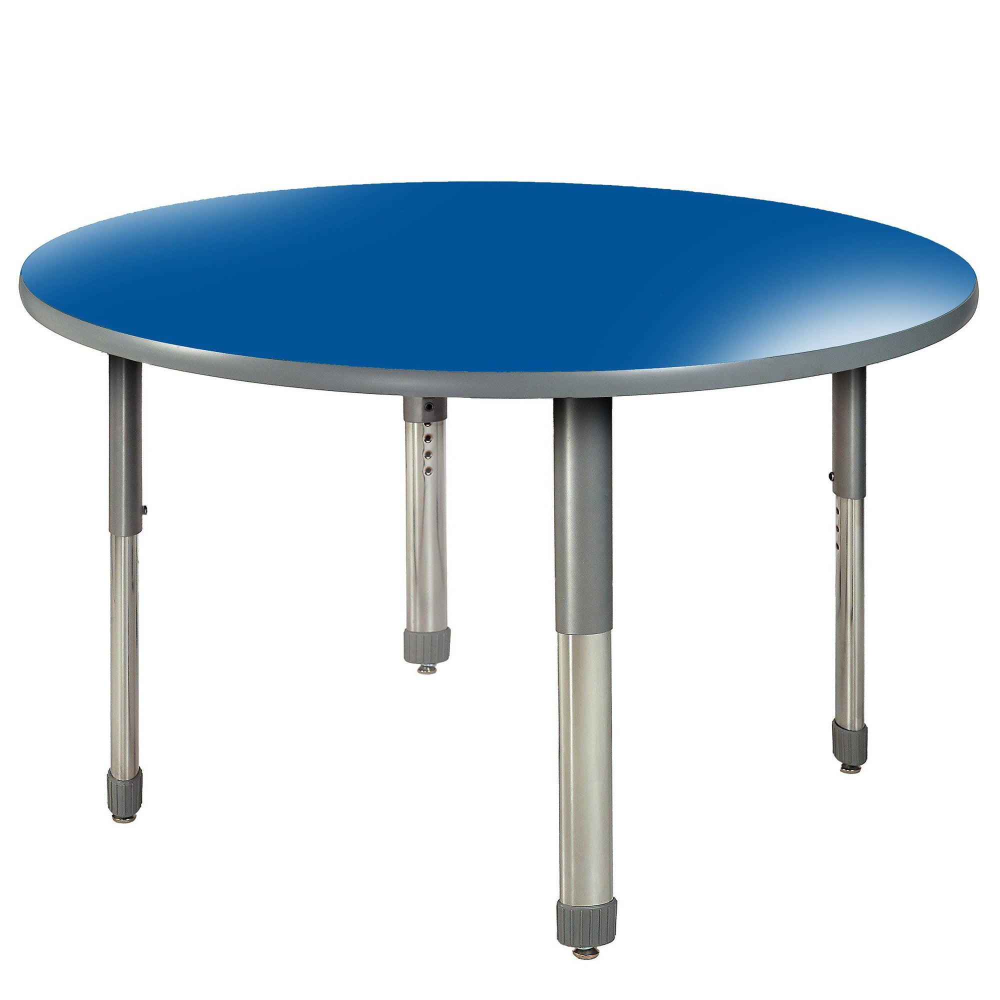 "Aero Activity Table, 48"" Circle, Oval Adjustable Height Legs"