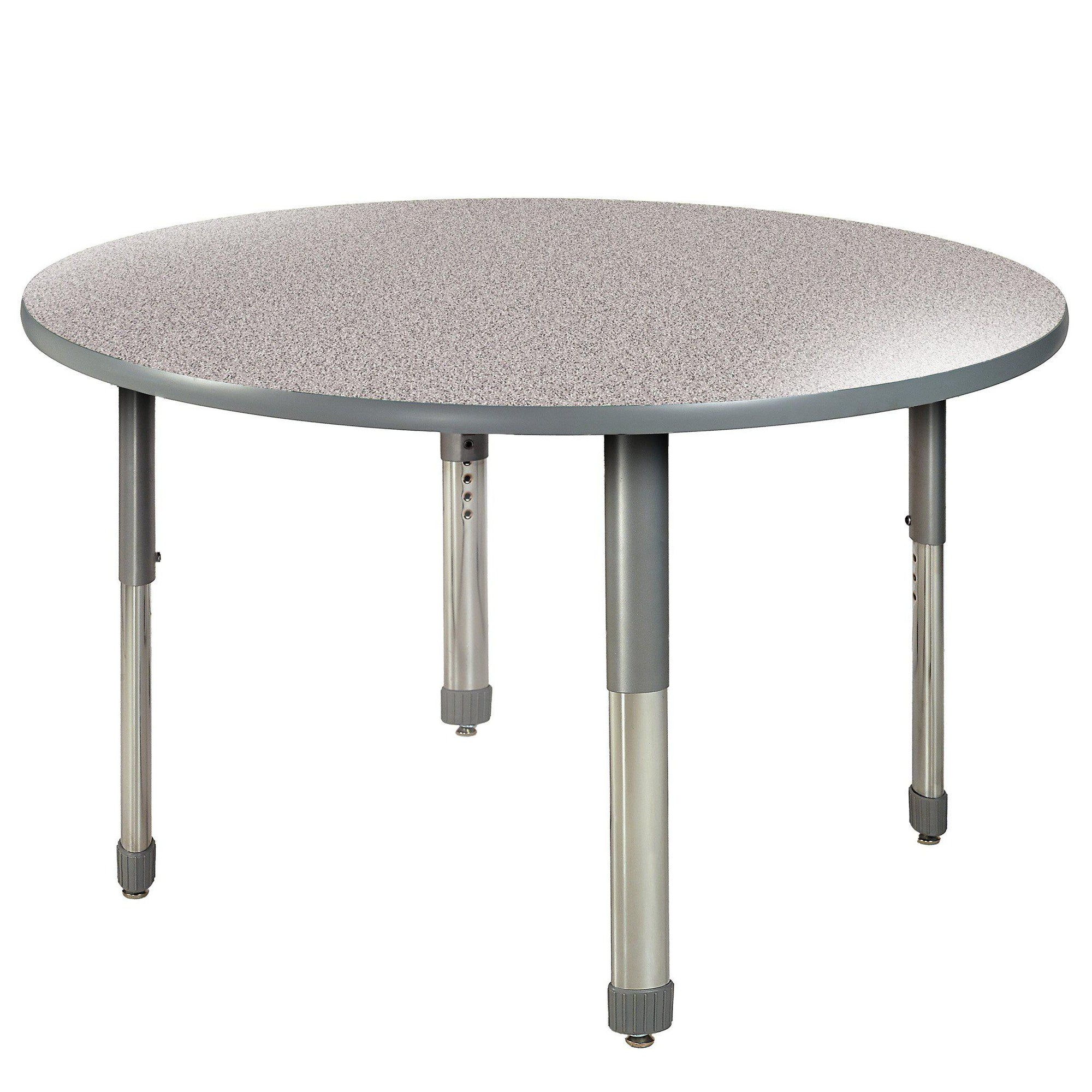 "Aero Activity Table, 42"" Circle, Oval Adjustable Height Legs"