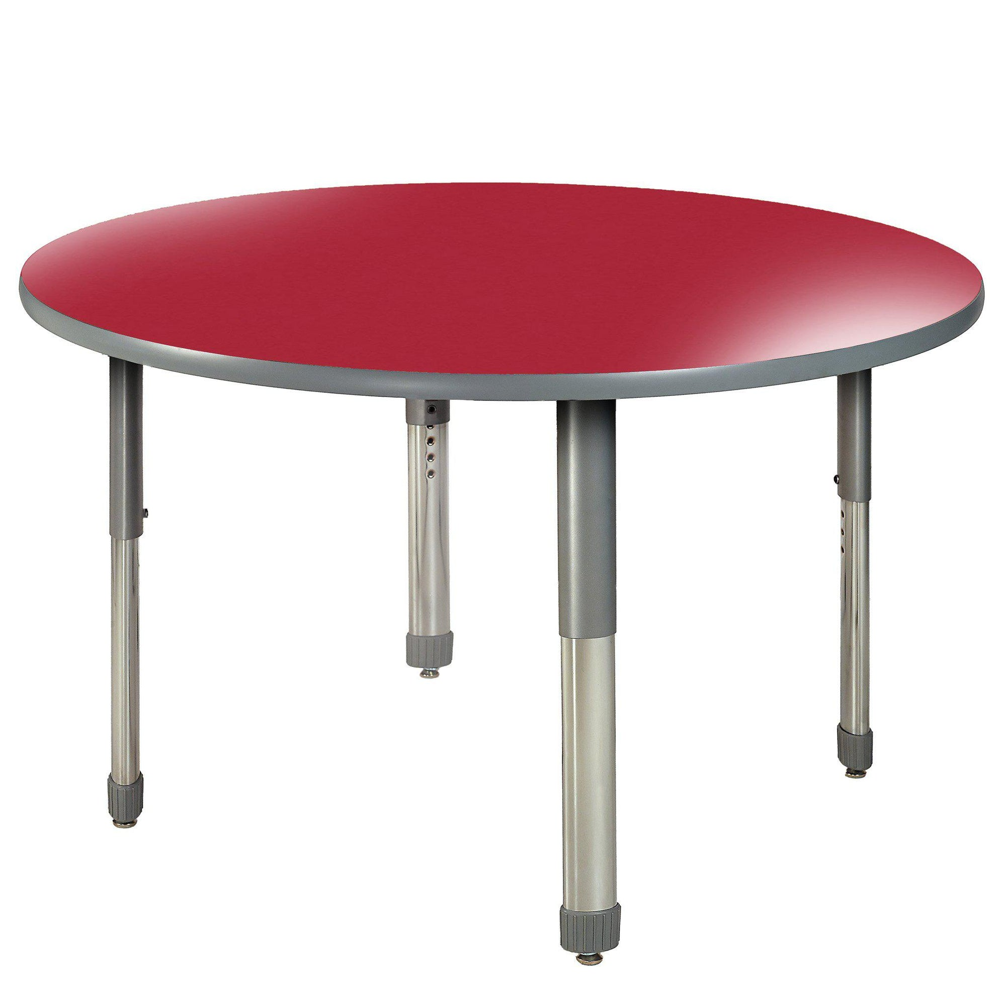 "Aero Activity Table, 60"" Circle, Oval Adjustable Height Legs"