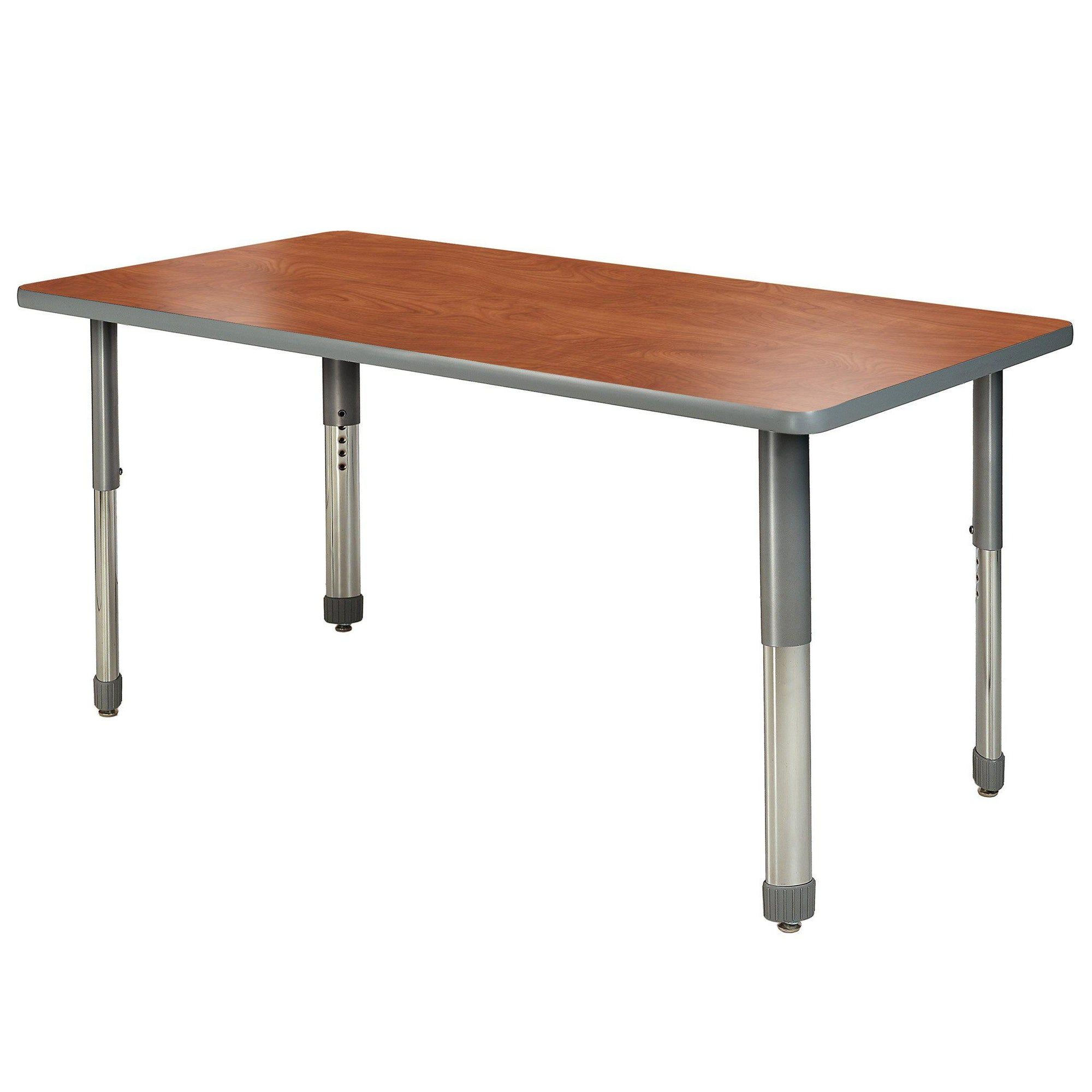 "Aero Activity Table, 42"" x 60"" Rectangle, Oval Adjustable Height Legs"