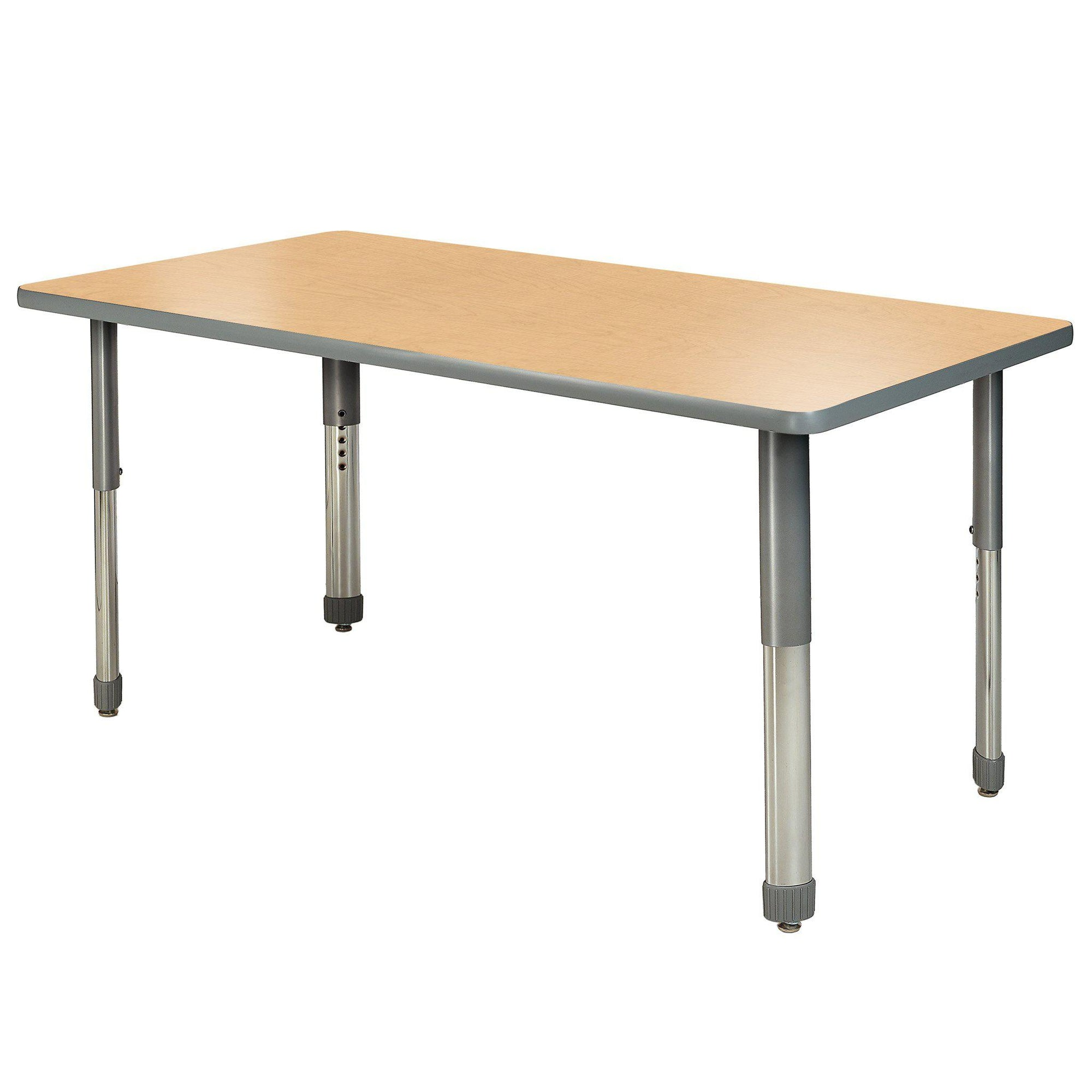 "Aero Activity Table, 30"" x 60"" Rectangle, Oval Adjustable Height Legs"