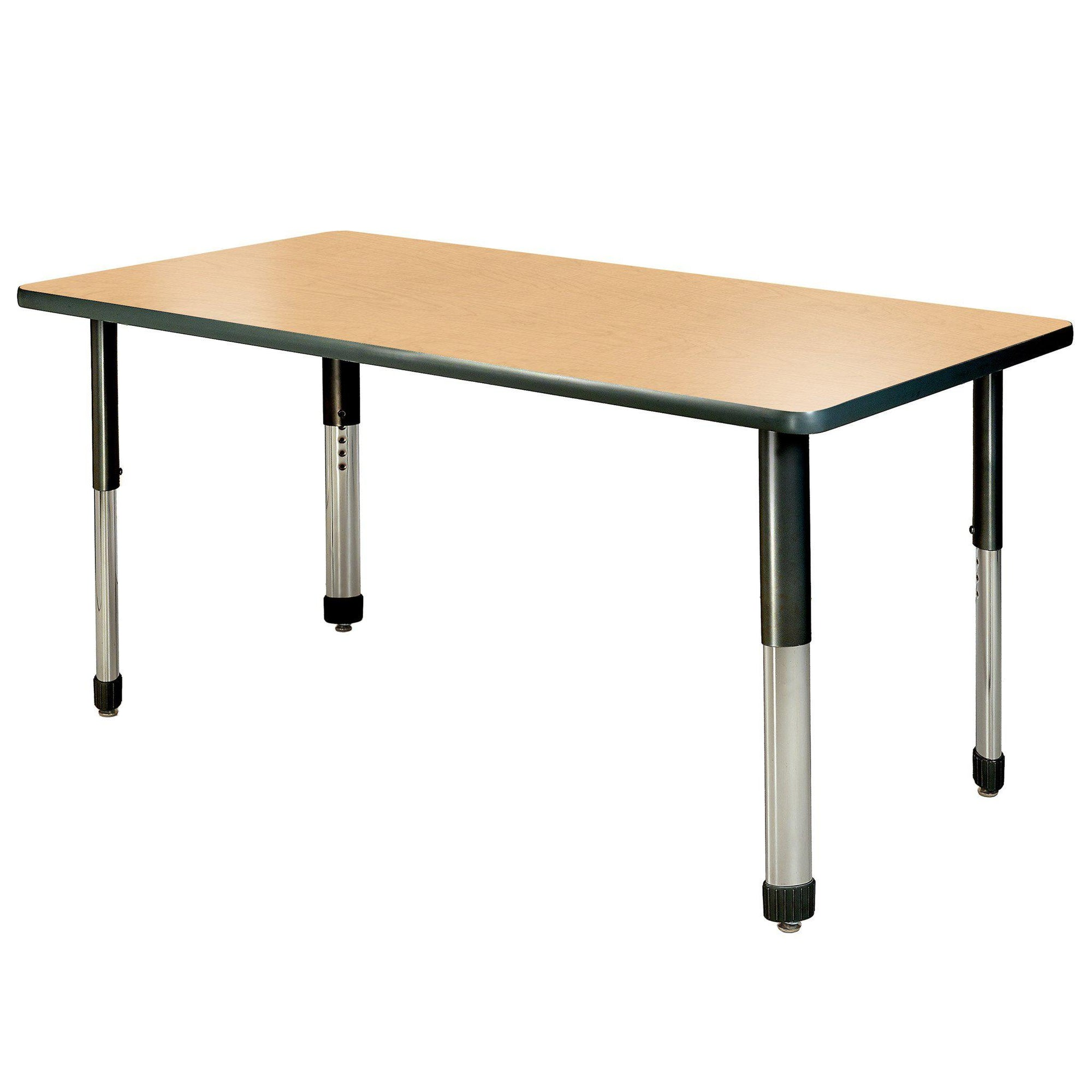 "Aero Activity Table, 24"" x 60"" Rectangle, Oval Adjustable Height Legs"