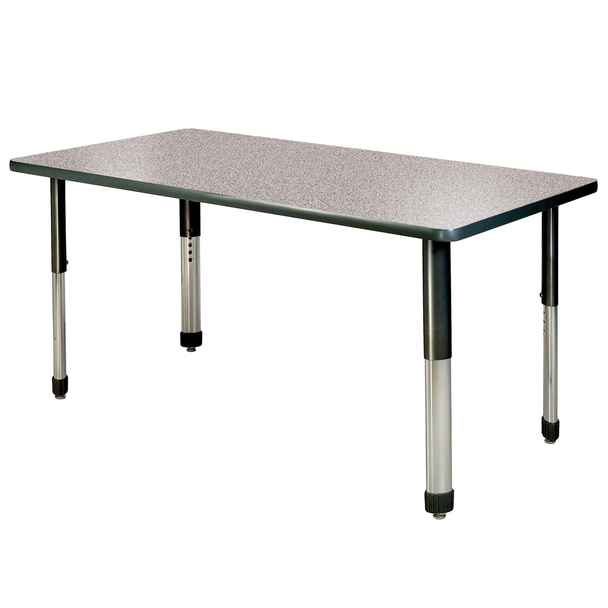 "Aero Activity Table, 30"" x 72"" Rectangle, Oval Adjustable Height Legs"