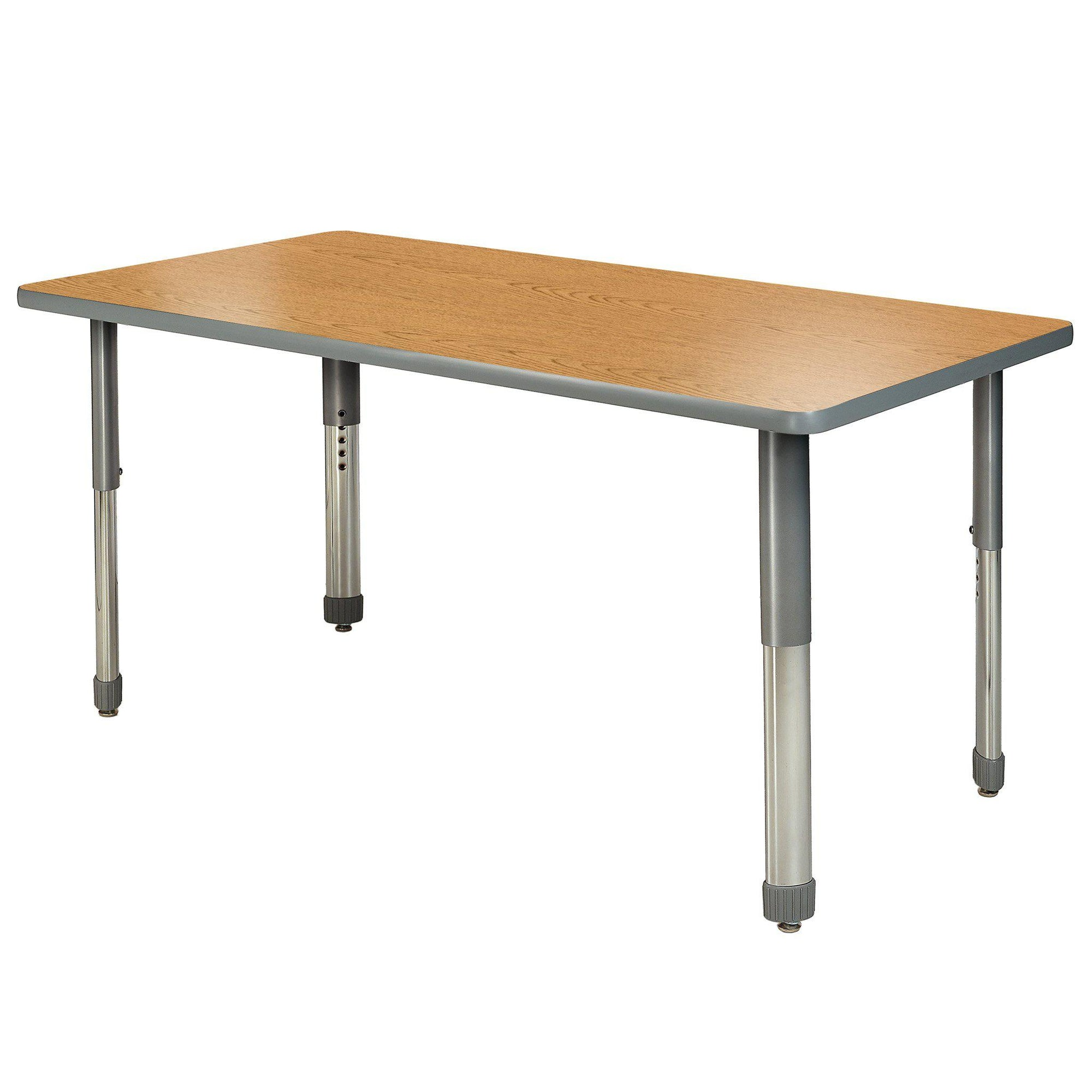 "Aero Activity Table, 36"" x 72"" Rectangle, Oval Adjustable Height Legs"