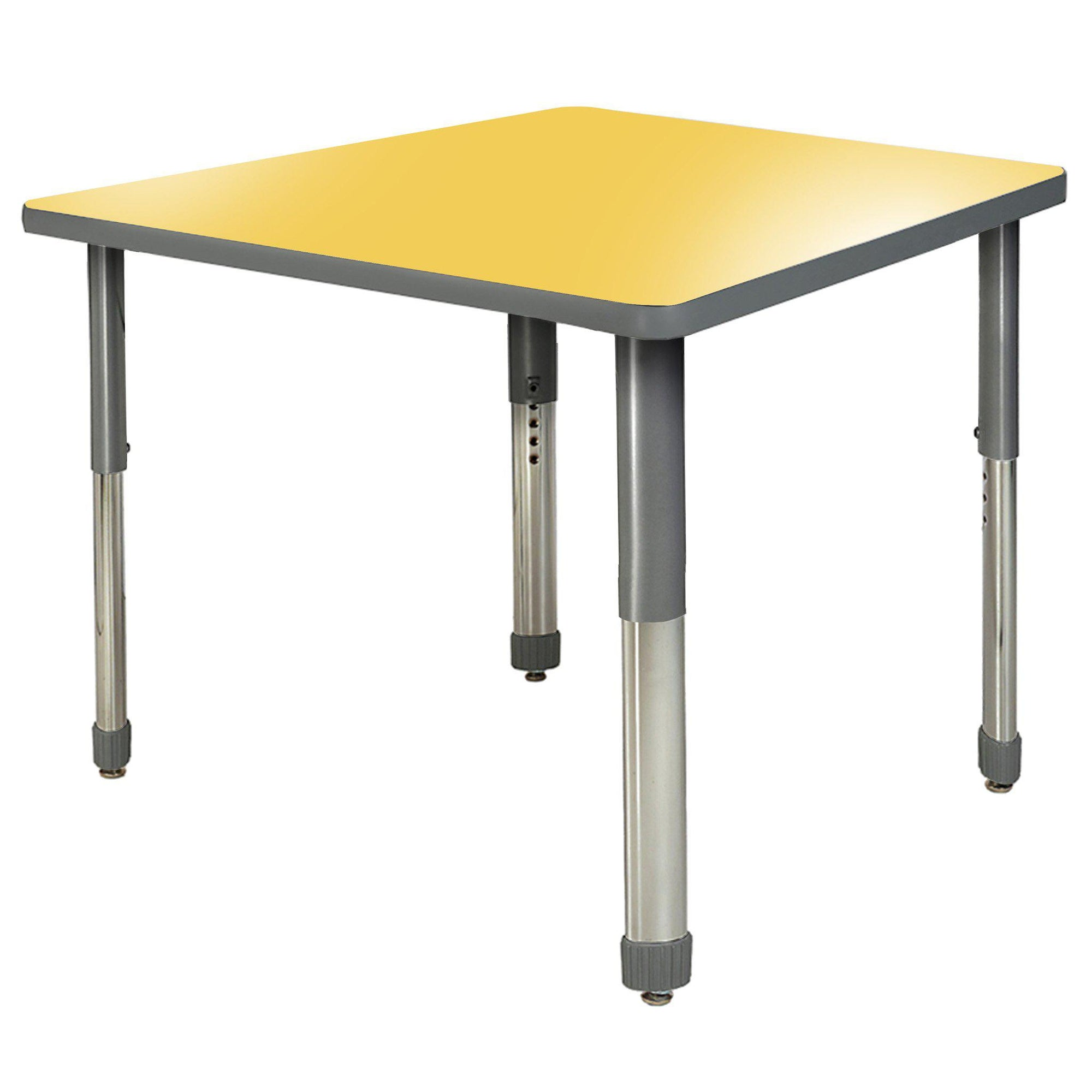 "Aero Activity Table, 42"" x 42"" Square, Oval Adjustable Height Legs"