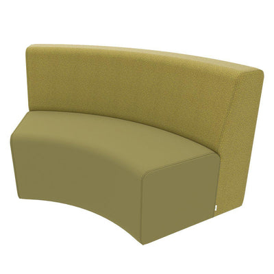 Fomcore Armless Series Sofa Curved In with 100% ALL-FOAM CORE, Antibacterial Vinyl Upholstery, LIFETIME WARRANTY