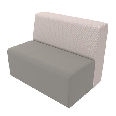 Fomcore Armless Series Linear Loveseat with 100% ALL-FOAM CORE, Antibacterial Vinyl Upholstery, LIFETIME WARRANTY