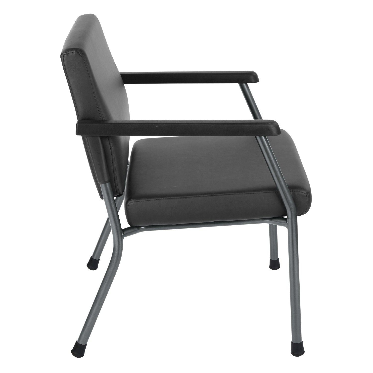 Bariatric Big & Tall Guest Chair with Antimicrobial Vinyl Upholstery, 33  lb Weight Capacity