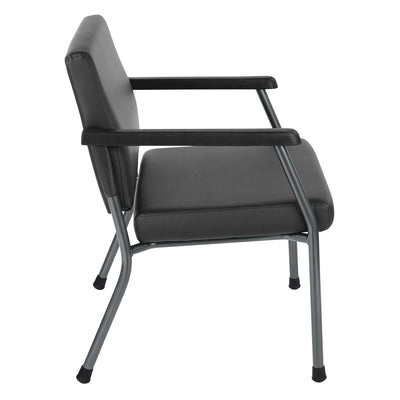 Bariatric Big & Tall Guest Chair with Antimicrobial Vinyl Upholstery, 500 lb Weight Capacity