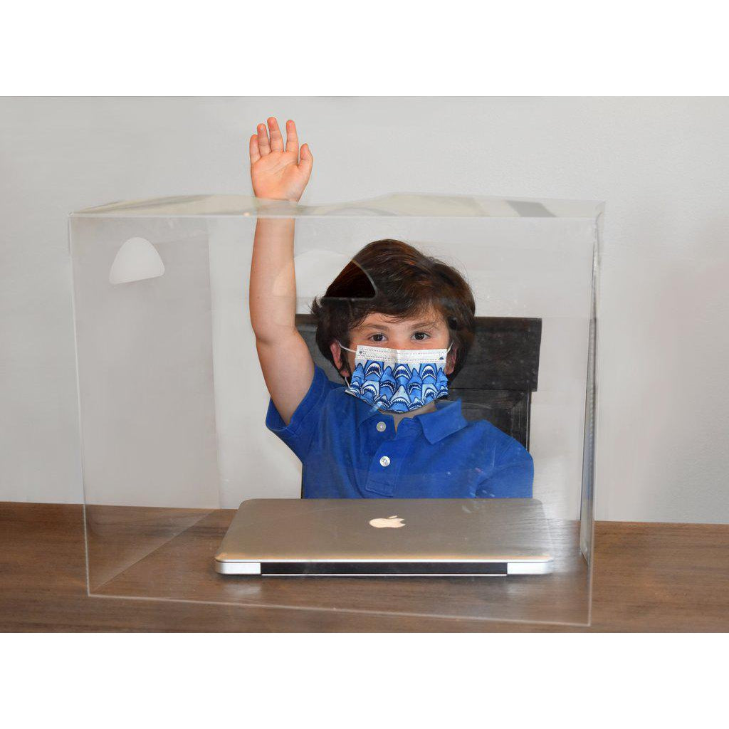 Nextgen Crystal Clear Desk Divider/Sneeze Guard, Small Size for Pre-K/Elementary