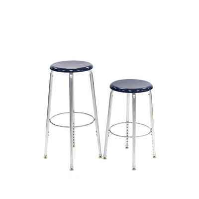 "Adjustable Height Stool with Solid Hard Plastic Seat,  24"" - 30"" H"