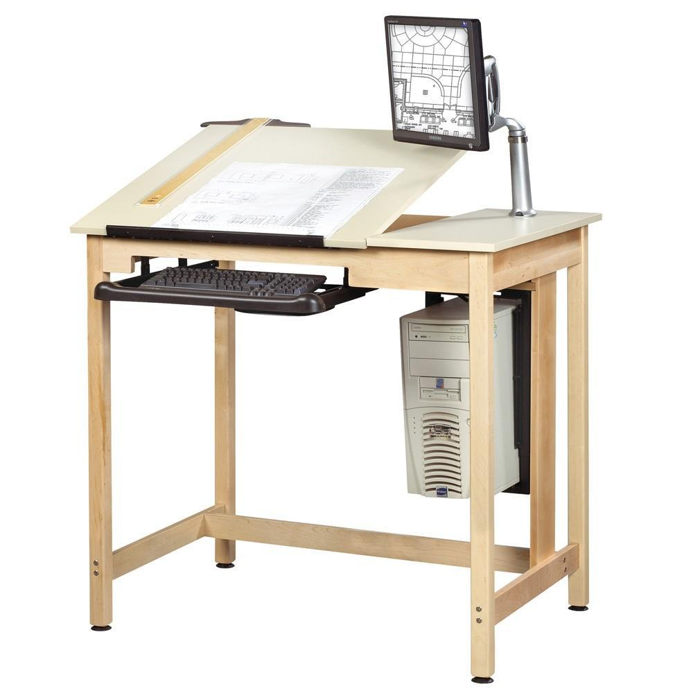 Drawing/CAD Table with Deluxe 2-Piece Top