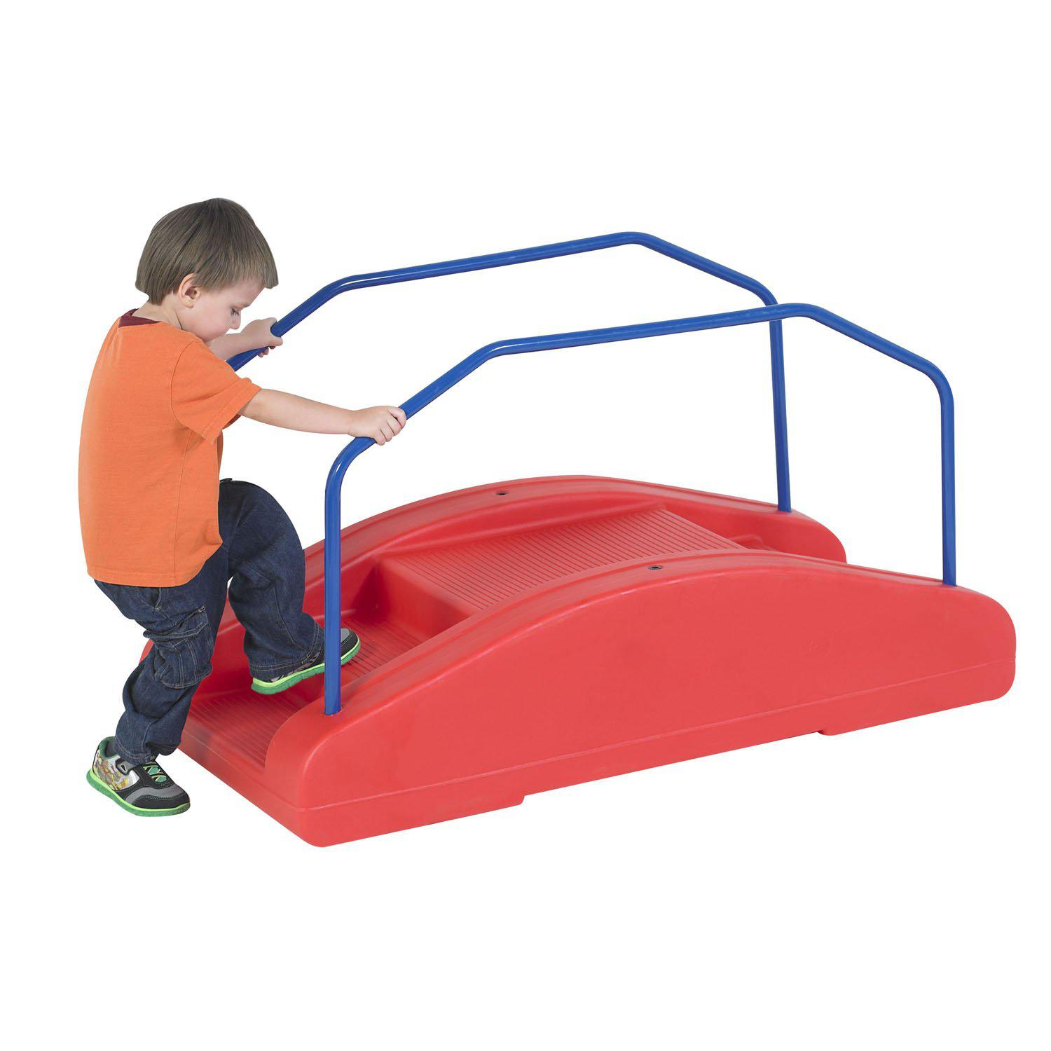 Red Rocker/Toddler Bridge with Rails