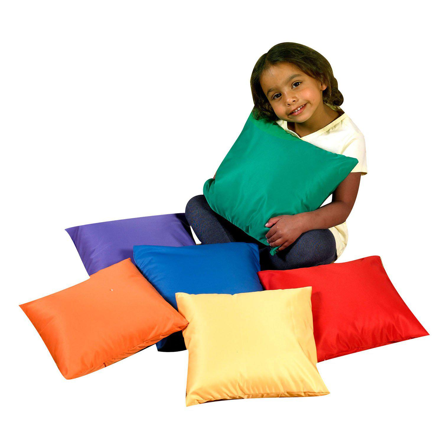 "12"" Mini Rainbow Throw Pillows - Set of 6"