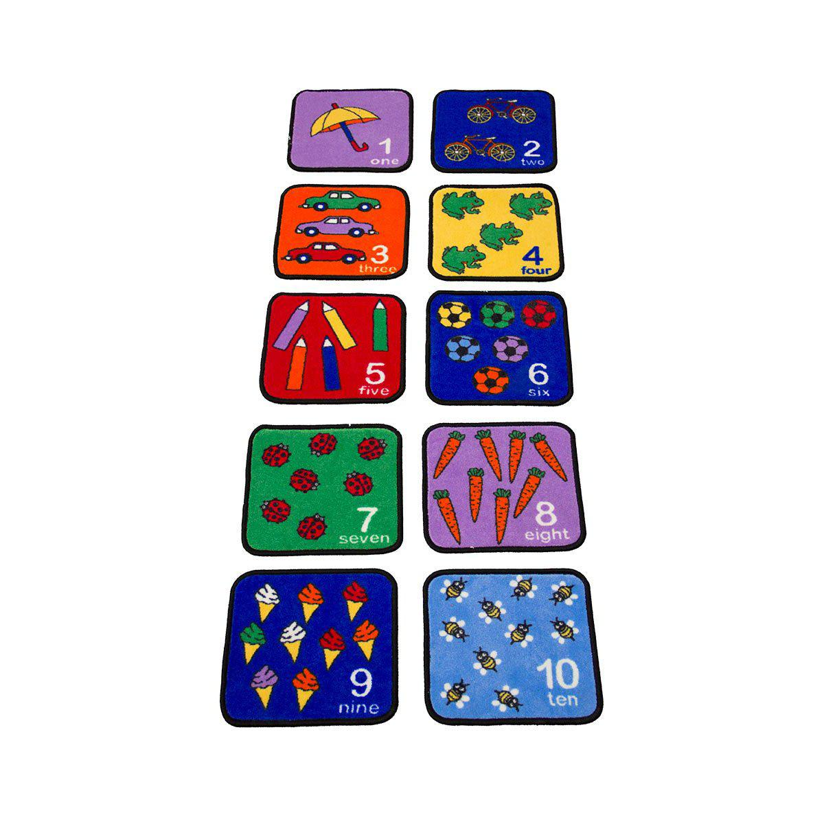 Let's Learn How to Count Seating Squares - Set of 10