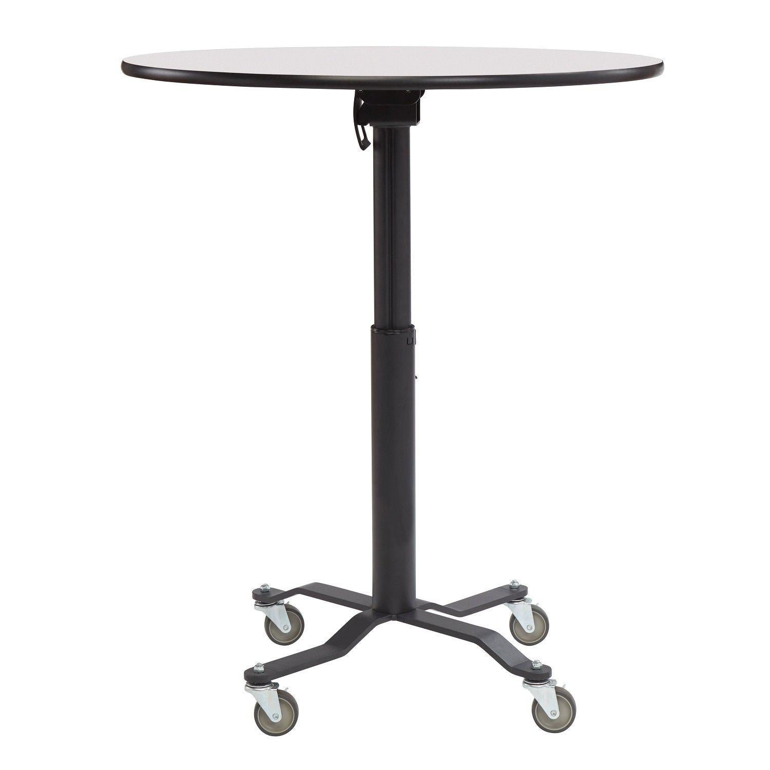 Premium Plus Café Table, Whiteboard Top, Textured Black Frame