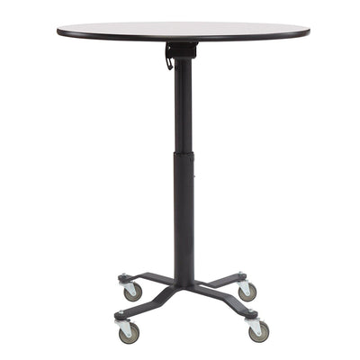 NPS Premium Plus Café Table, Whiteboard Top, Textured Black Frame