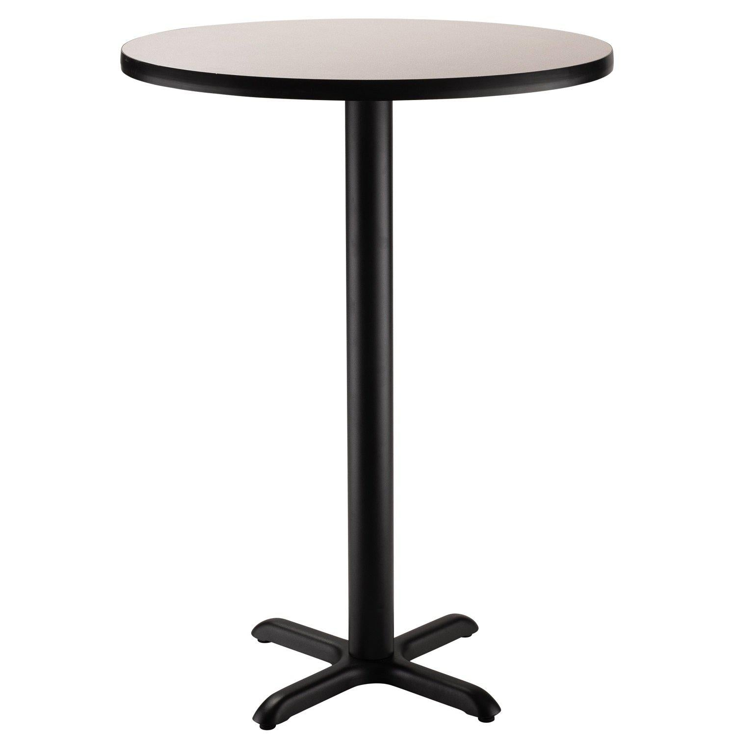 "Café Table, 24"" Round, ""X"" Base, 42"" Height"