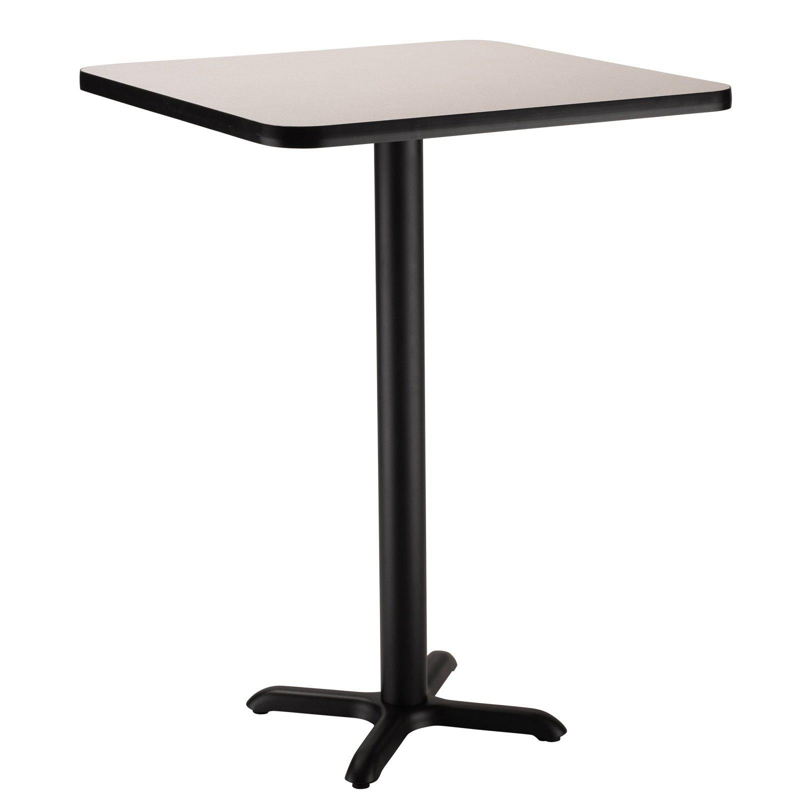 "Café Table, 30"" Square, ""X"" Base, 42"" Height"