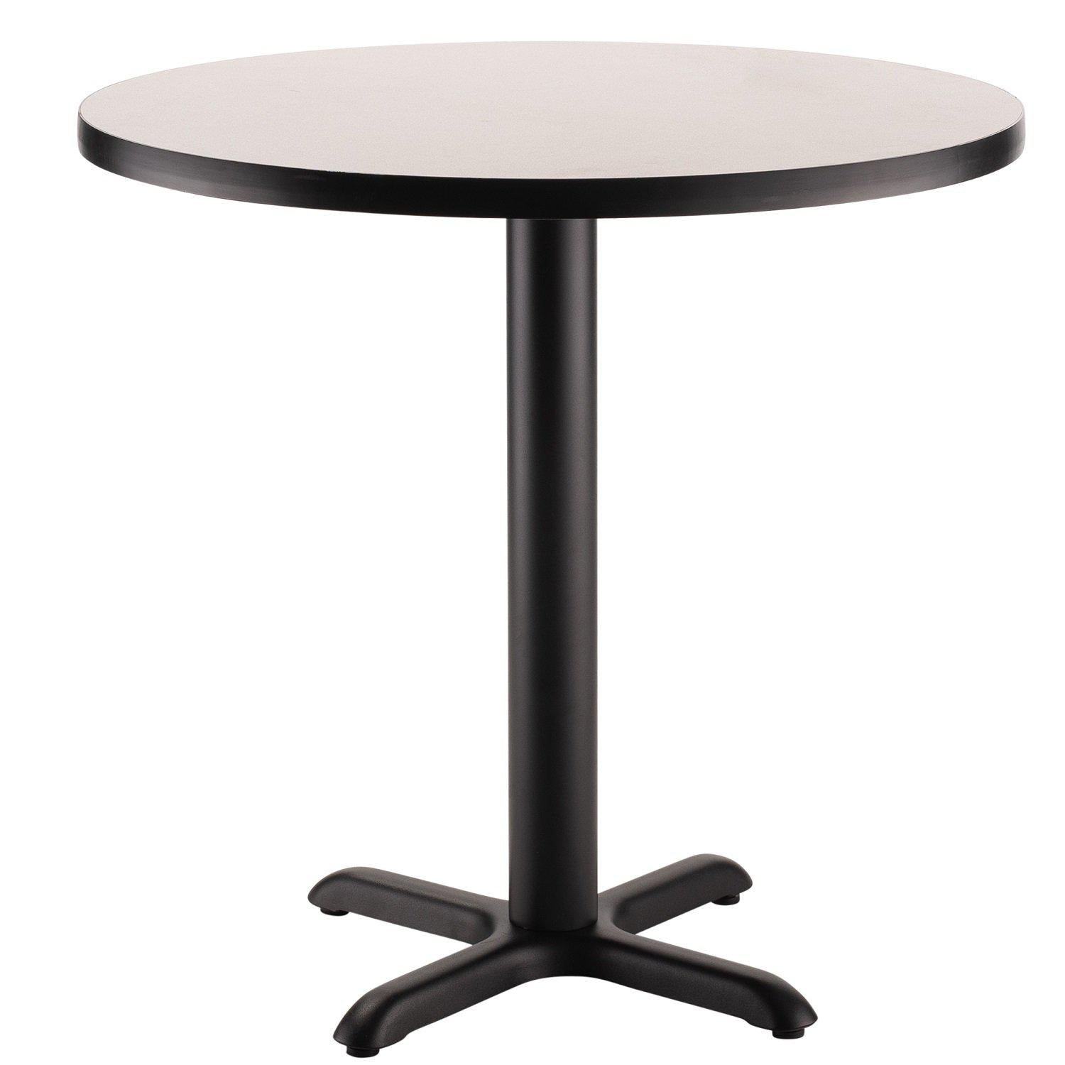 "Café Table, 36"" Round, ""X"" Base, 30"" Height"