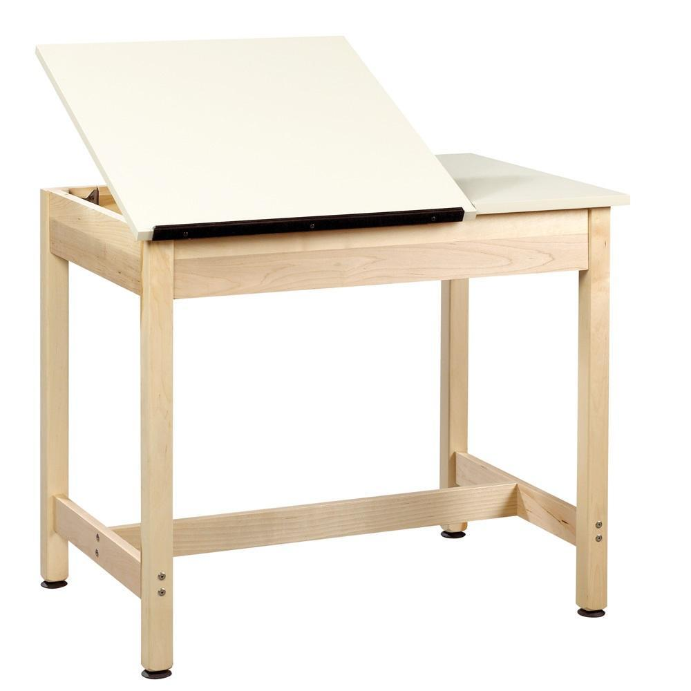 Original Drawing Table with 2-Piece Top