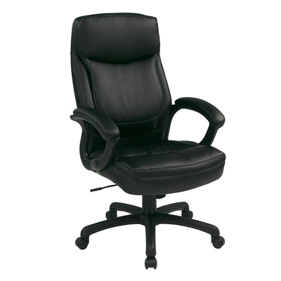Executive High Back Bonded  Leather Chair with Color-Match Stitching
