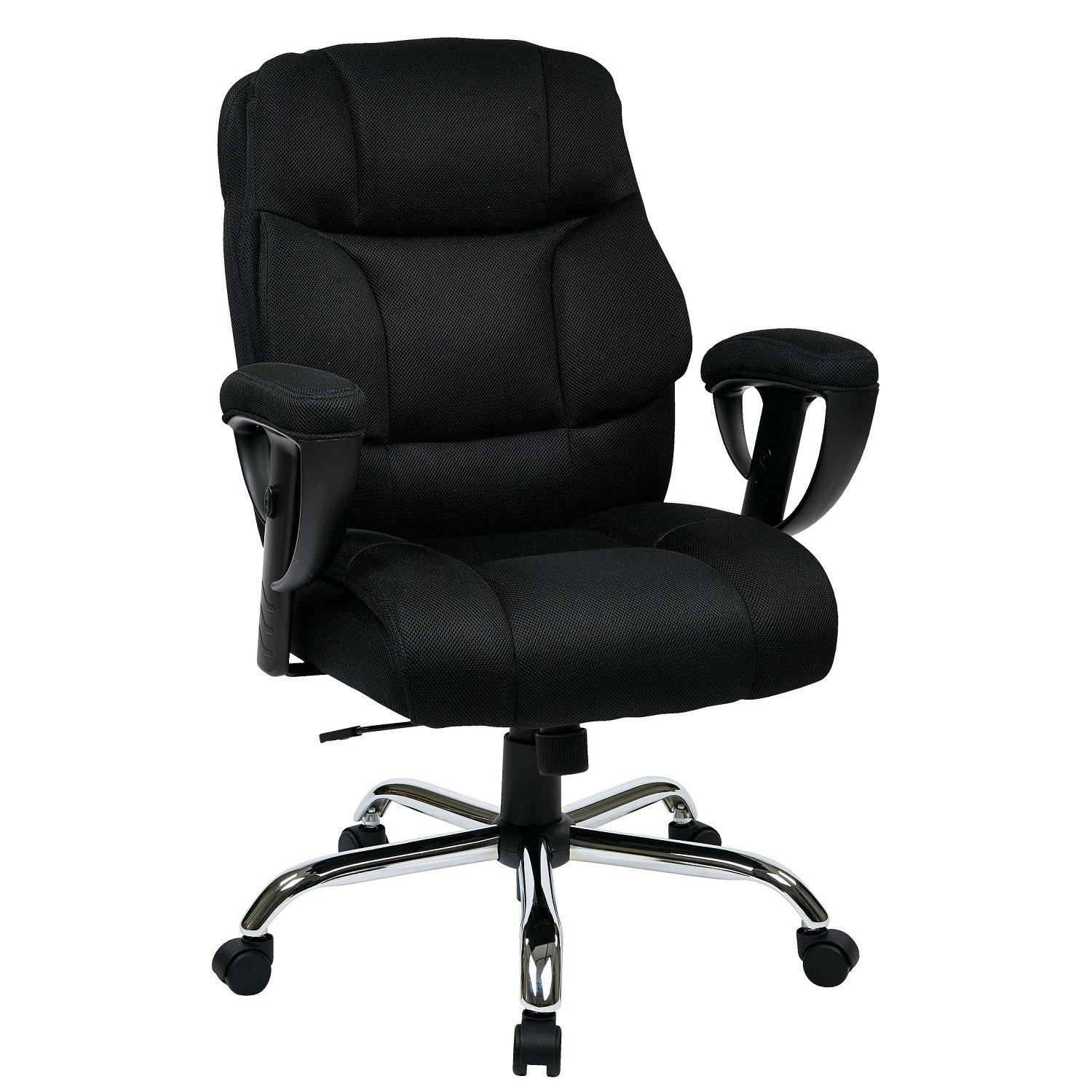 Executive Big Man's Chair with Mesh Seat and Back