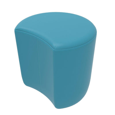 Fomcore Ottoman Series Crescent with 100% ALL-FOAM CORE, Antibacterial Vinyl Upholstery, LIFETIME WARRANTY
